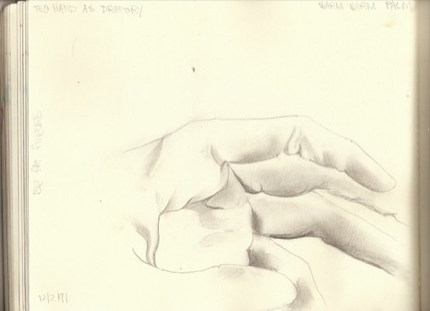 hand as drapery