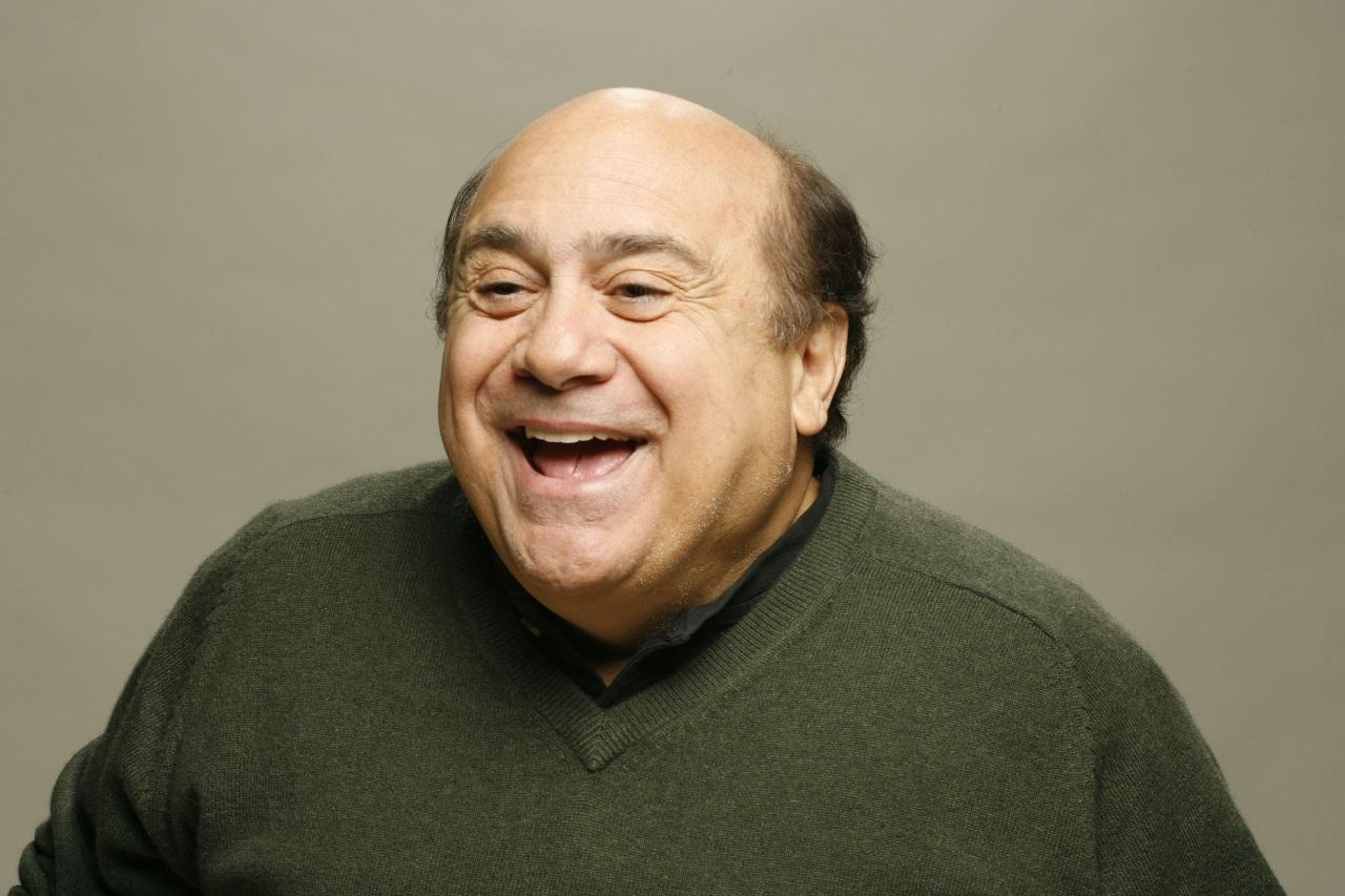 stolen / borrowed photo of Danny DeVito laughing